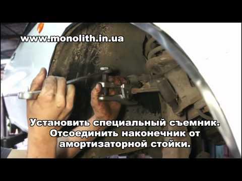 Отсоединение наконечника рулевой тяги онлайн ролик развал своими руками ваз 2106 смотреть замену наконечников рулевых тяг ваз 21
